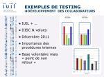 exemples de testing d veloppement des collaborateurs