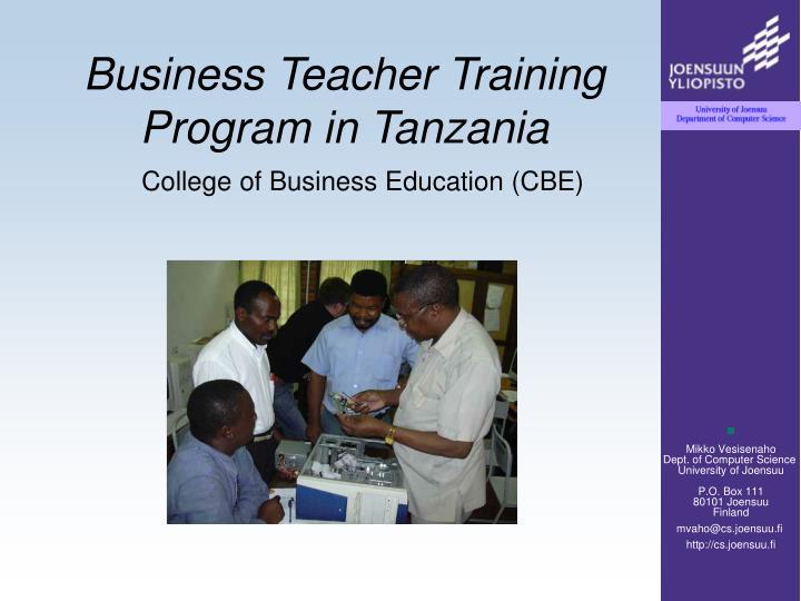 Business Teacher Training Program in Tanzania