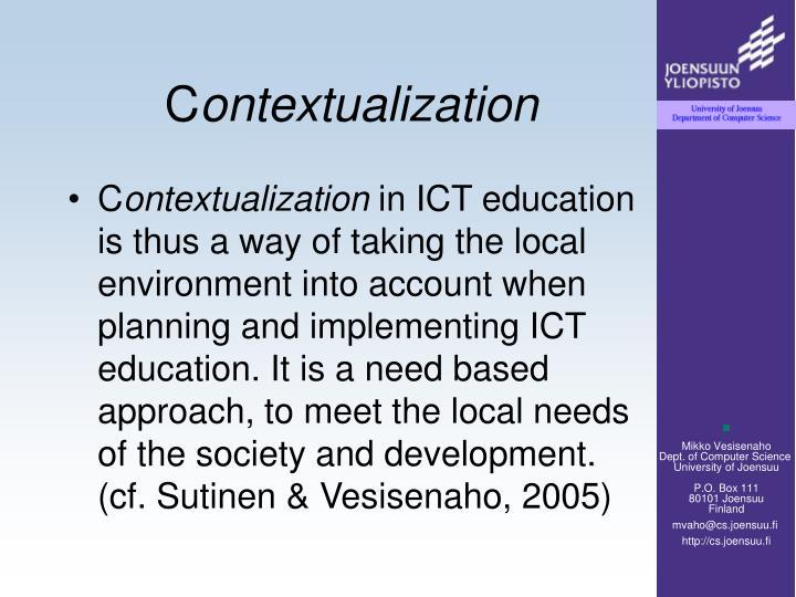 C ontextualization