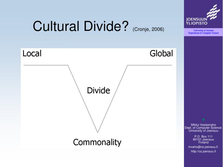 Cultural divide cronje 2006