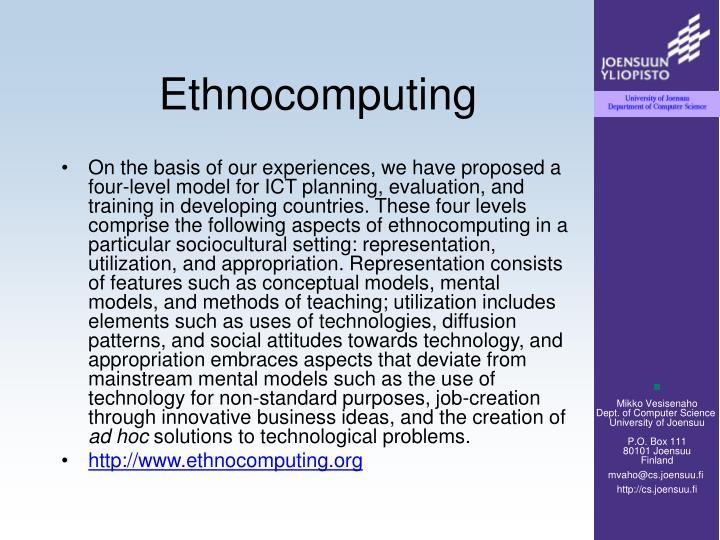 Ethnocomputing