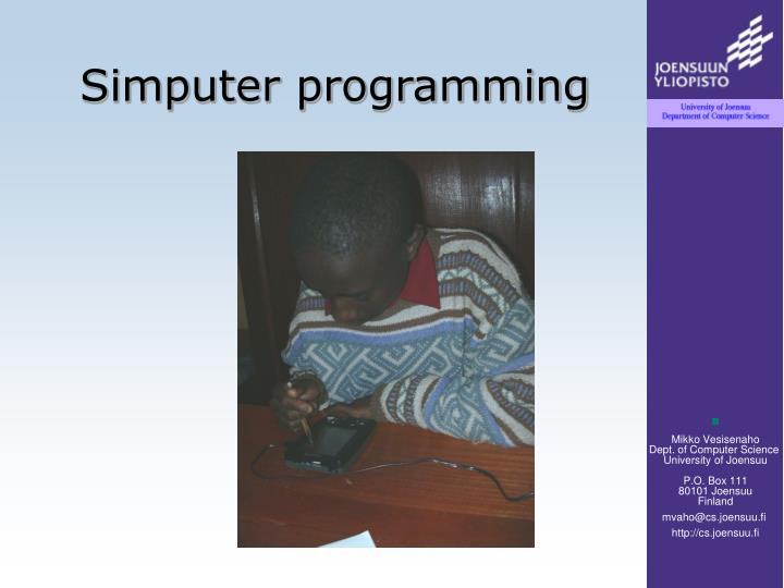 Simputer programming