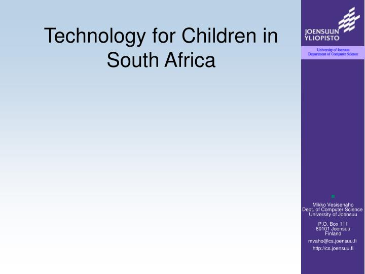 Technology for Children in South Africa