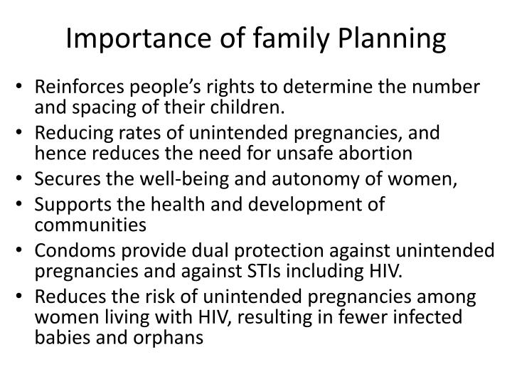 what is family planning and its importance