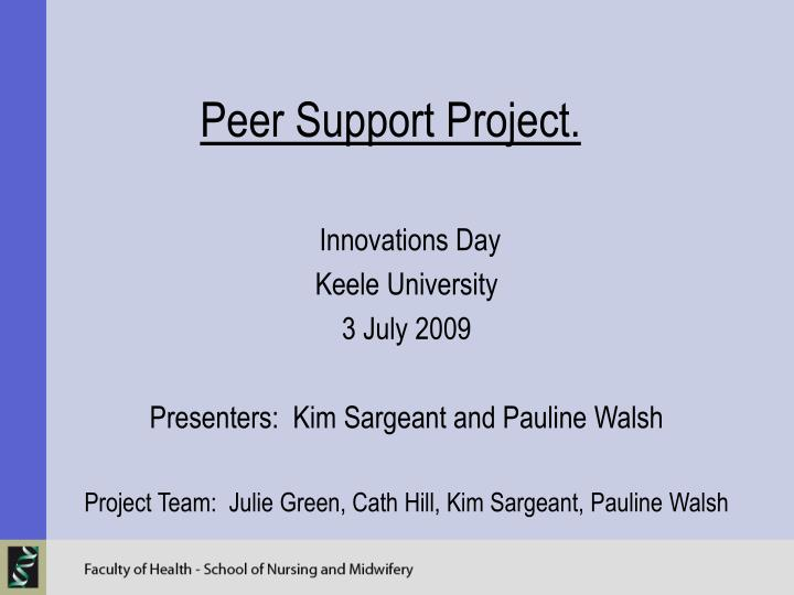 peer support project n.