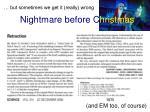 nightmare before c hristmas