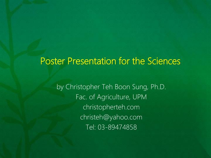 poster presentation for the sciences n.