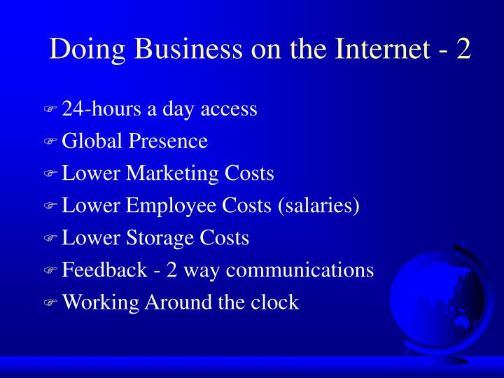 Doing Business on the Internet - 2