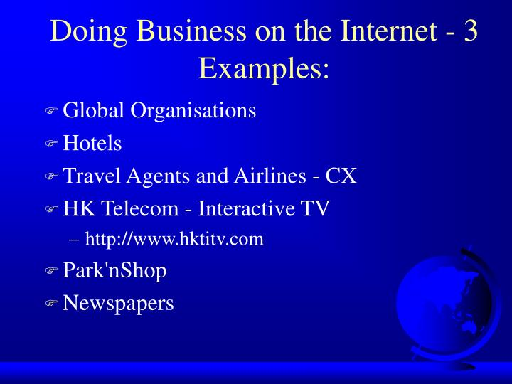 Doing Business on the Internet - 3