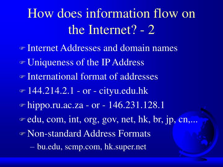 How does information flow on the Internet? - 2