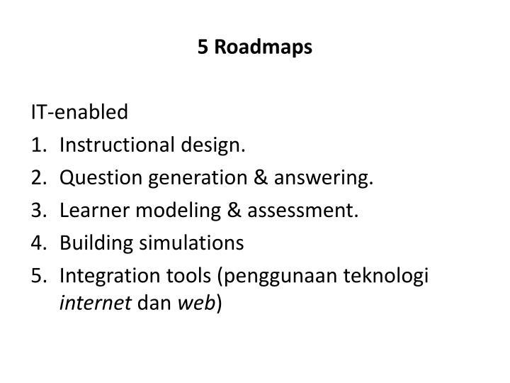 5 Roadmaps
