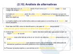 2 10 an lisis de alternativas