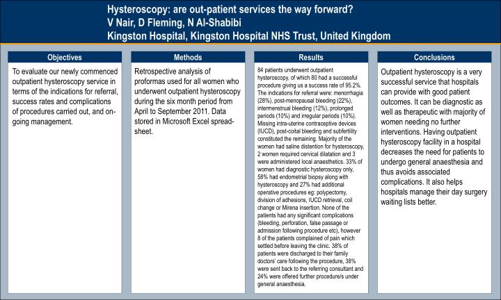 Hysteroscopy: are out-patient services the way forward?