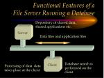 functional features of a file server running a database