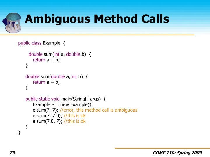 Ambiguous Method Calls