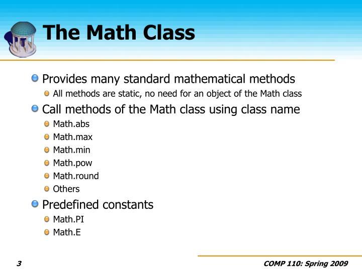 The math class