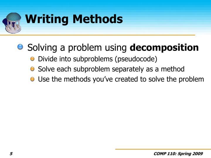 Writing Methods