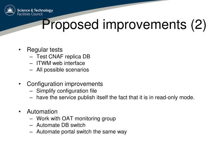 Proposed improvements (2)