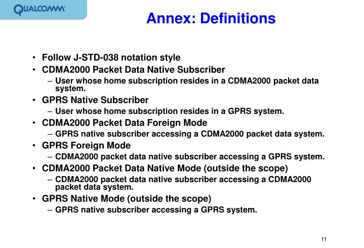 Annex: Definitions