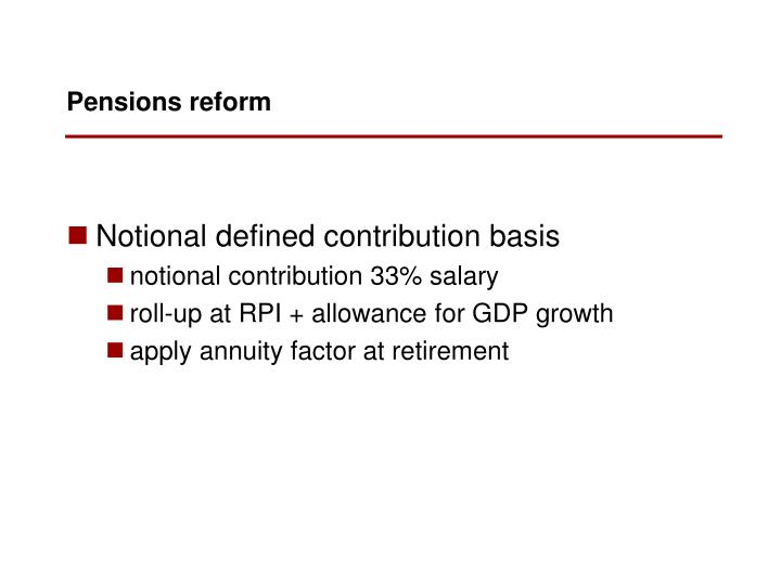 Notional defined contribution basis