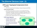 the ethernet services layer 3
