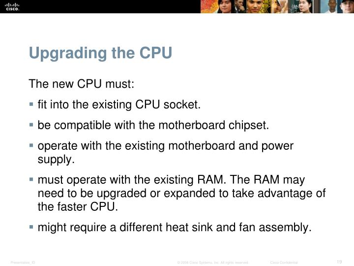 Upgrading the CPU