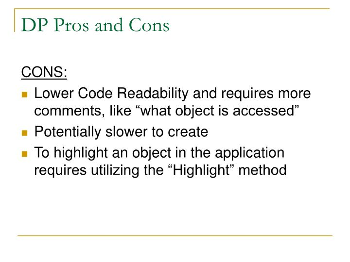 DP Pros and Cons