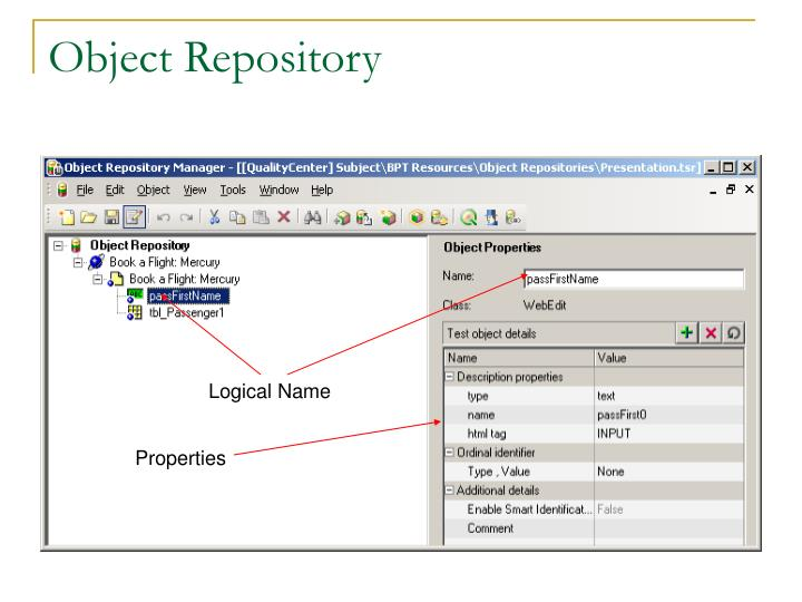 Object Repository