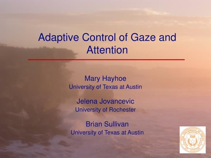 adaptive control of gaze and attention n.