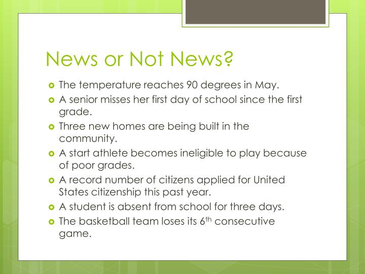 News or Not News?