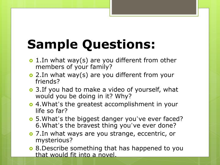 Sample Questions: