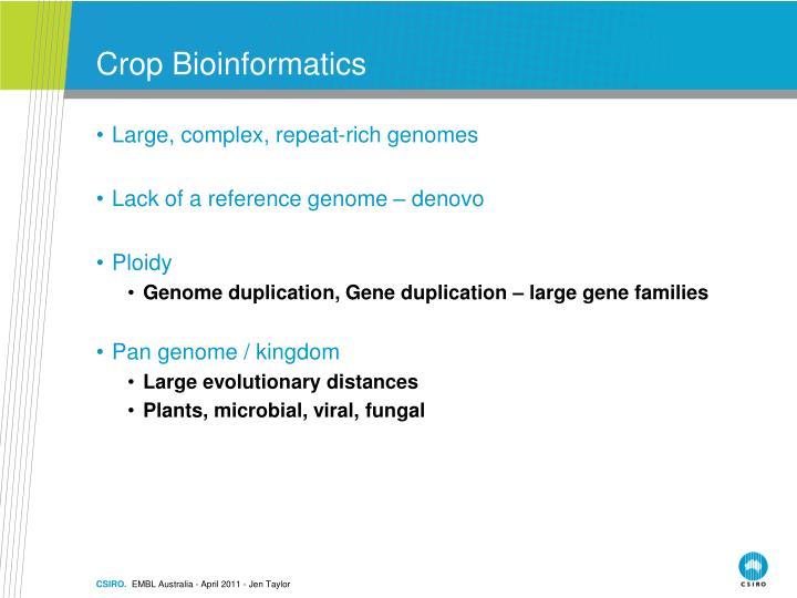 Crop Bioinformatics
