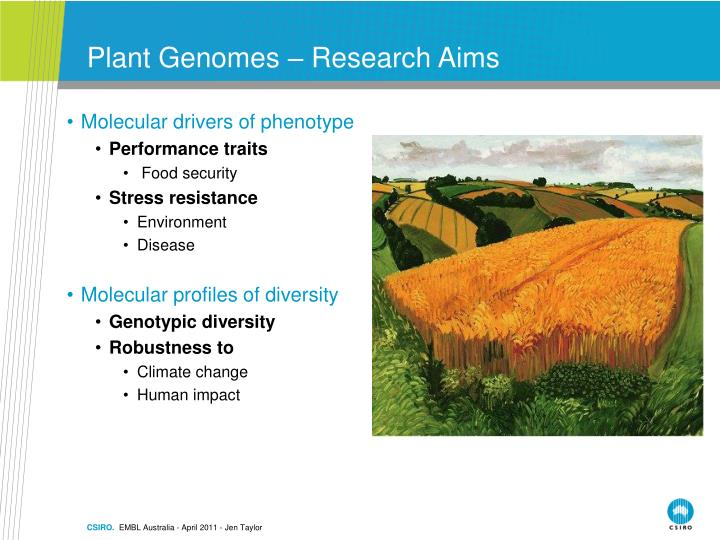 Plant genomes research aims