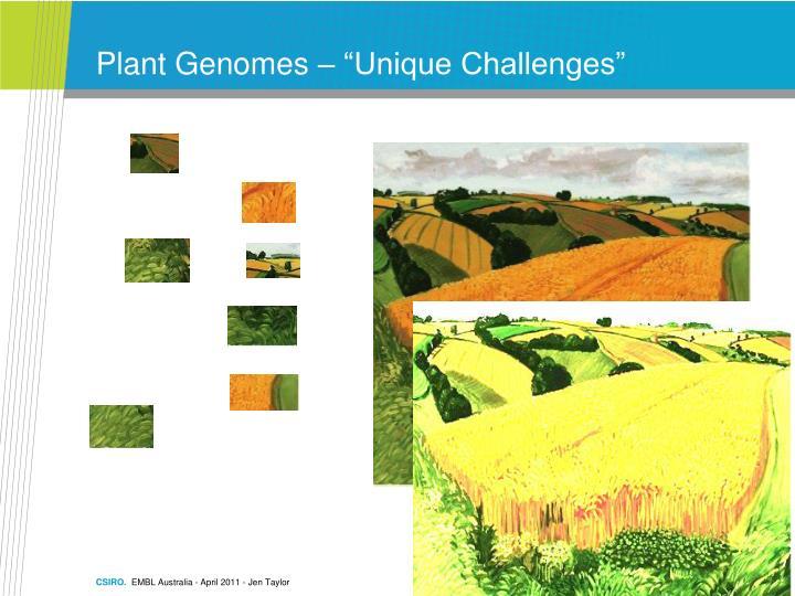 """Plant Genomes – """"Unique Challenges"""""""
