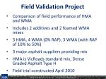 field validation project