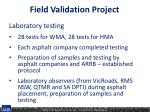 field validation project1