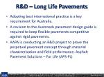 r d long life pavements