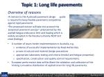 topic 1 long life pavements