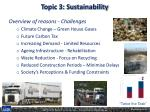 topic 3 sustainability