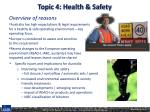 topic 4 health safety