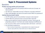 topic 5 procurement systems2