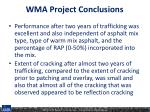 wma project conclusions