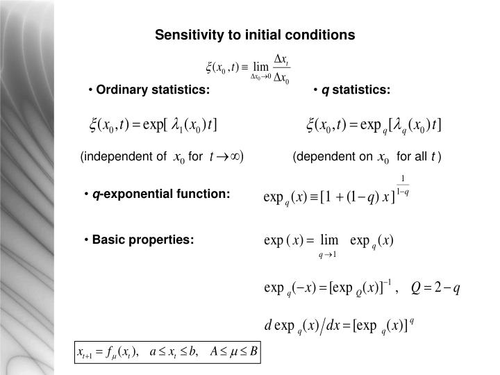 Sensitivity to initial conditions