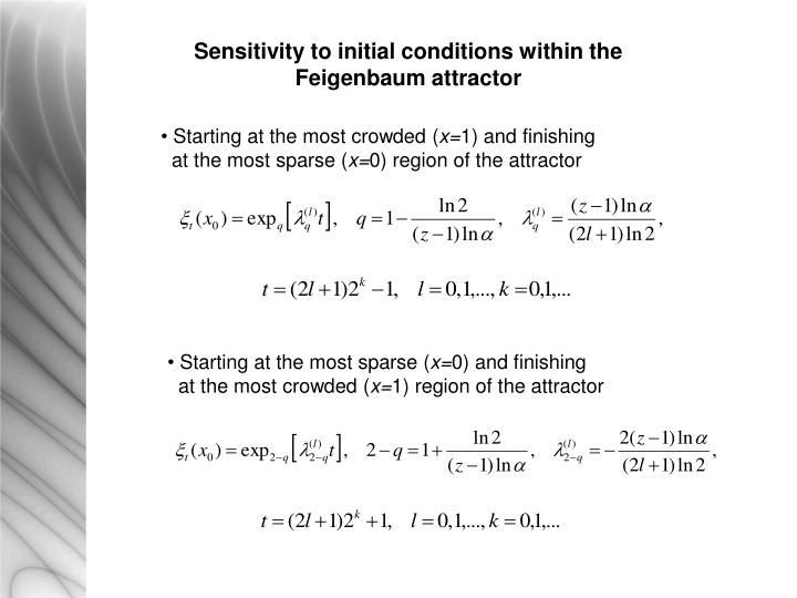 Sensitivity to initial conditions within the Feigenbaum attractor