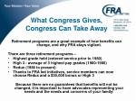 what congress gives congress can take away