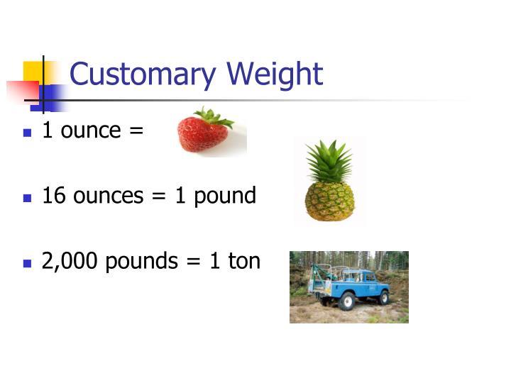 Customary Weight 1 Ounce