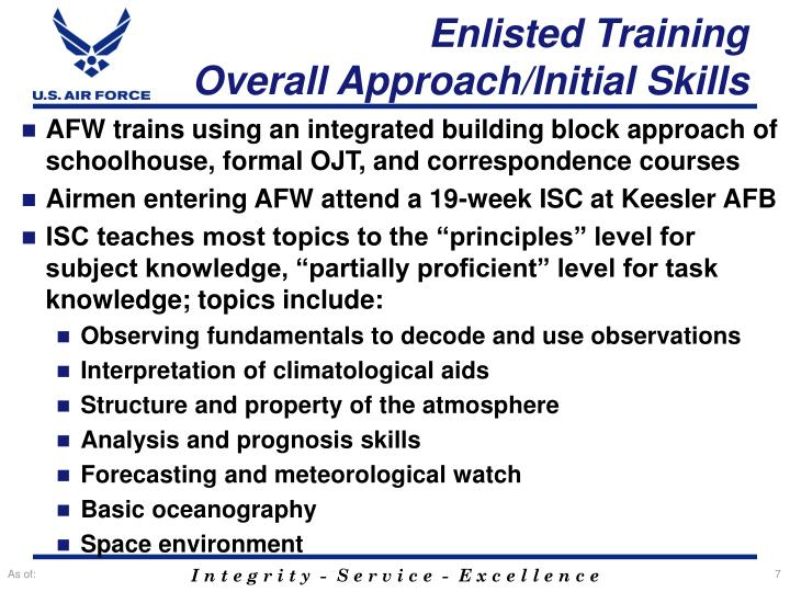 Enlisted Training