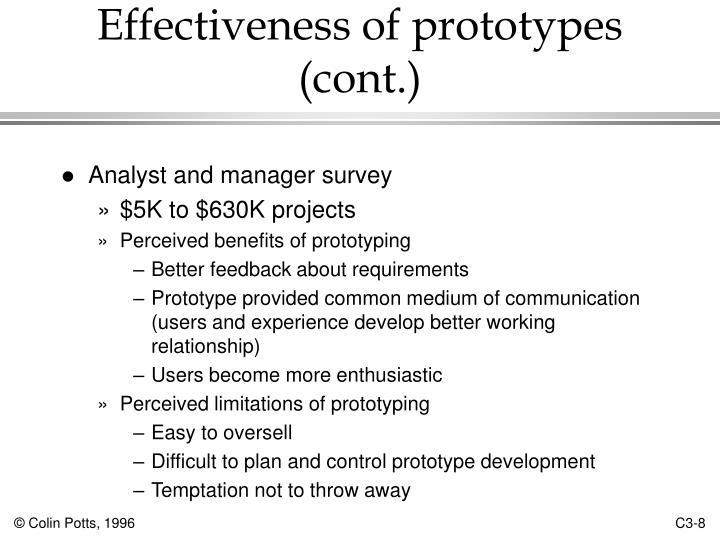 Effectiveness of prototypes (cont.)