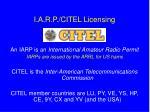 i a r p citel licensing