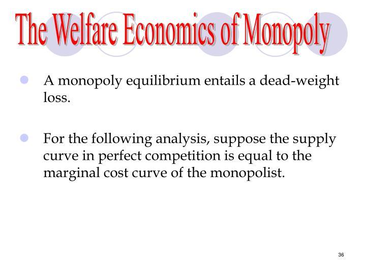 The Welfare Economics of Monopoly